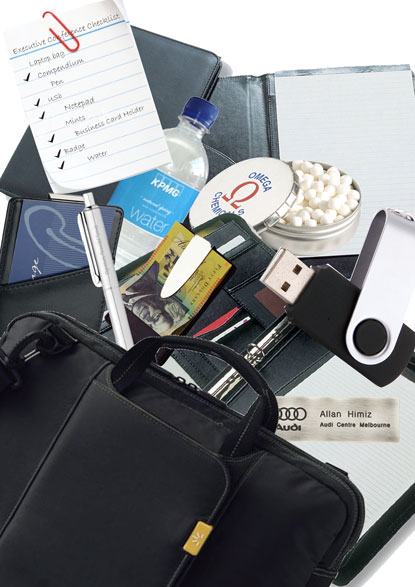 JEM-promotional-products-logo-personalised-executive-conference-products-laptop-bag-compendium-pen-usb-notepad-mints-business-card-holder-name-badge-water
